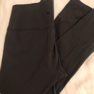 Lululemon High Times Dark Grey High Rise Leggings